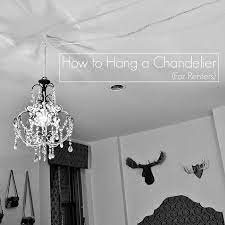 how to hang a chandelier for ers