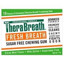 TheraBreath <b>Fresh</b> Breath <b>Xylitol Chewing Gum</b> Mild Vanilla Mint ...