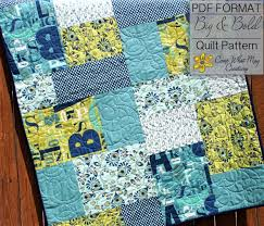 Baby Quilt Pattern Fat Quarter Quilt Pattern Big & Bold Baby & 🔎zoom Adamdwight.com