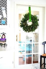 how to hang a wreath on a door wreth hang wreath on sliding glass door hang