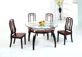 wooden dining table designs with glass top round set w 4 wood for gl