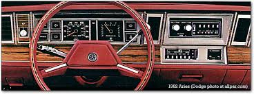 plymouth reliant dodge aries and chrysler lebaron the k cars 1982 aries dashboard