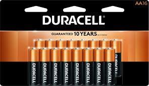 Duracell Battery Sizes Chart Duracell 1 5v Coppertop Alkaline Aa Batteries 16 Pack