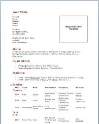 Sample Dance Resume For Audition Best of Sample Dance Resume For Audition Acting Resume Template No