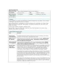 Printable Meeting Agenda Template Conference Call Notes Example