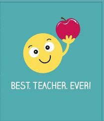 Amazon.com: Thank You - Cute Emoji Hold Apple Best Teacher. Ever New Card:  Kitchen & Dining
