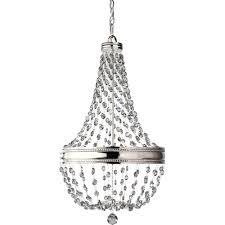 feiss malia 6 light polished nickel 1 tier chandelier