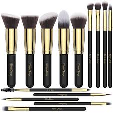 makeup brushes emaxdesign 14 pieces professional makeup brush set synthetic foundation blending concealer eye face liquid powder cream cosmetics brushes set
