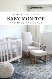 today i m showing you how i mounted our baby monitor while hiding those unsightly cords this trick is a super simple way to keep the nursery functional