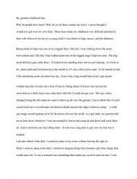 my greatest childhood fear essay zoom zoom