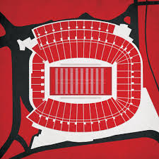 Sanford Stadium Seating Chart 2018 Sanford Stadium Map Art