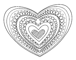 coloring page heart mandala color coloringcrew stunning heart designs coloring pages
