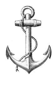 Anchor Graphic Clip Art графика винтаж якорь морское тату и