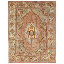 antique oushak carpet turkish rugs handmade oriental rug pink blue green c for