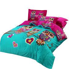 svetanya owl duvet cover set kids cartoon 3d bedding sets 3 5pc cotton quilt cover