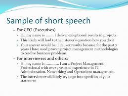 30 Seconds Elevator Speech Ppt Video Online Download