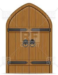 wooden door clipart. Brilliant Door Old Wooden Door On White Background  Gate Vector Image U2013 Artwork Of  Objects  Intended Wooden Door Clipart D