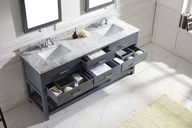gray double sink vanity. virtu md-2272-wmsq-gr caroline estate double bathroom vanity cabinet set, 72\ gray sink e