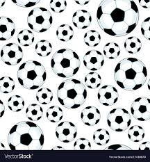 Soccer Ball Pattern Custom Soccer Ball Pattern Royalty Free Vector Image VectorStock