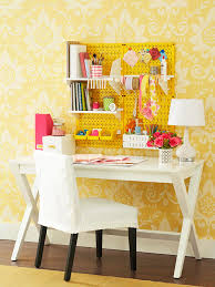 yellow office decor. Yellow-pegboard-office Yellow Office Decor D
