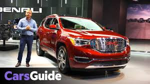 2018 gmc red. fine red 2018 gmc acadia 7seat suv up close at the detroit motor show  video inside gmc red