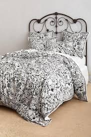 black and white fl motif duvet