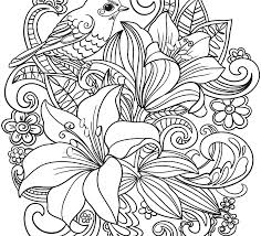 Colouring Pictures Of Flowers Free Coloring And Butterflies In Vase