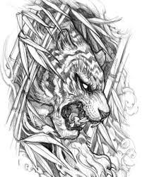 David Hoang At Davidhoangtattoo Sketching Season Tiger Tattoo