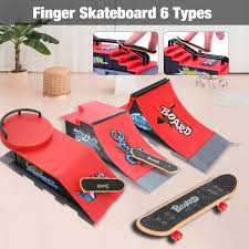 Tech Deck Board Designs Us 9 99 15 Off Skate Park Ramp Parts For Tech Deck Fingerboard Finger Board Mini Skate Board Ultimate Parks 6 Types Optional In Skate Board From