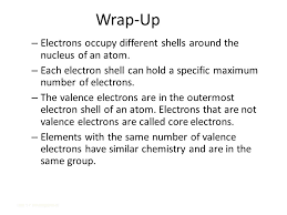 Core and Valence Electrons - ppt video online download