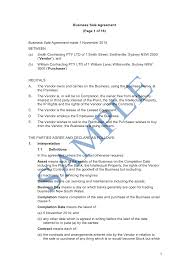 Business Contract Agreement Business Sale Agreement Sample LawPath 10