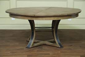 round reclaimed wood dining table with good looking room furniture trestle standard slab designs 14