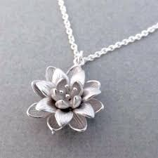 frequently bought together women silver plated 3d lotus flower necklaces