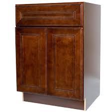 24 Inch Sink Cabinet 24 Inch Bathroom Vanity Single Sink Cabinet In Leo Saddle Dark