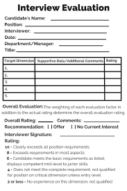 interview assessment form template how to avoid stalled hiring decisions naviga
