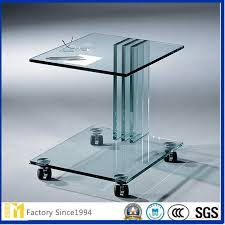 customsized size and design clear float glass tempered glass for coffee dinner table top