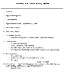15 Staff Meeting Agenda Template Resume Statement