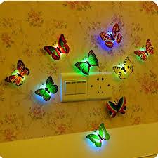 diy 3d colorful erflies led night