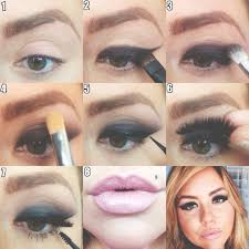 learning makeup artist brittany hall s dramatic cat eye makeup look steps