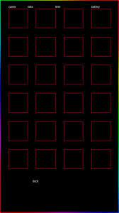 Rainbow glow iPhone blueprint wallpaper ...