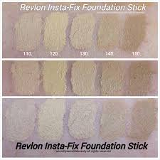 revlon photoready insta fix foundation stick swatches of shades