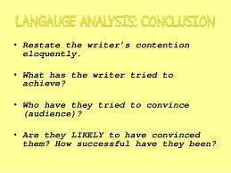 writing a language analysis essay revision  9