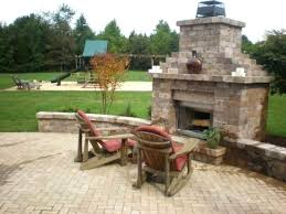 paver fireplace chimney outdoor fireplace stone sitting wall patio paver stone fireplace plans