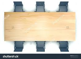 office table tops. Top View On Conference Wooden Table And Black Chairs 3d Render Meeting Office Tops V