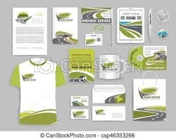 Office Stationery Design Templates Corporate Identity Template For Road Build Company