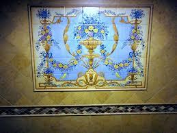 Rococo Decorative Wall Tile French Ornate Baroque Rococo steam shower tile mural Bathroom 12