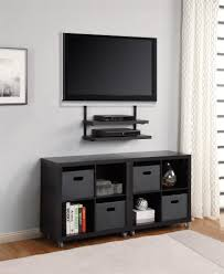 Tv Stands For 50 Flat Screens Minimalist Floating Flat Screen Tv Stand With Black Wooden Shelves