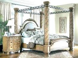 Wrought Iron Canopy Bed Frame Queen King Size Home Improvement ...
