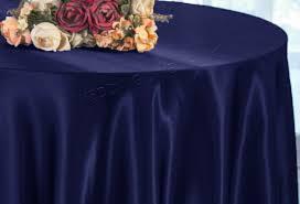 108 round satin tablecloth navy blue 55623 1pc pk