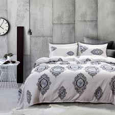 duvet cover set comforter bedding sleeping pillowslip pillowcase 3pcs red flower luxury blue soft luxury queen